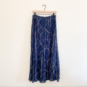 Banana Republic Printed Flowy Summer Maxi Skirt